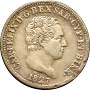 50 centesimi - Charles Félix – avers