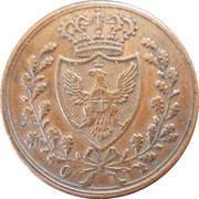 1 centesimo - Charles-Félix – avers