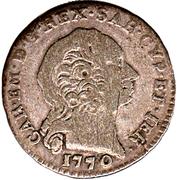 1 reale Carlo Emanuele III – avers