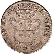 1 reale Carlo Emanuele III – revers