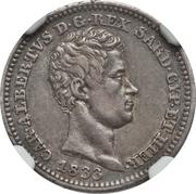 50 centesimi - Charles-Albert – avers