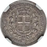 50 centesimi - Charles-Albert – revers