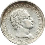 1 lira - Charles-Félix – avers