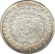 1 lira - Charles-Félix – revers