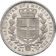 1 lira - Charles-Albert – revers