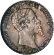 1 lira - Victor-Emmanuel II – avers