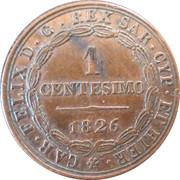 1 centesimo - Charles-Félix – revers