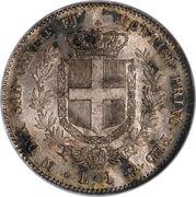 1 lira - Victor-Emmanuel II – revers