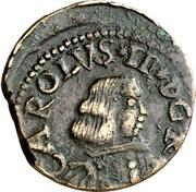 1 Cagliarese, 2 Denari - Carlo II – avers