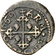 1 Cagliarese, 2 Denari - Carlo II – revers