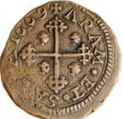 3 Cagliarese, 6 Denari - Carlo II – revers