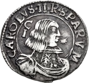 1 Reale - Carlos II – avers