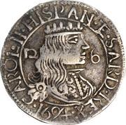2 1/2 reali Carlo II – avers