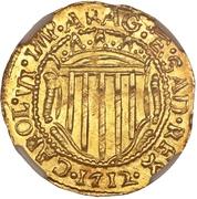 1 Scudo d´Oro - Carlo VI, Emperor – avers