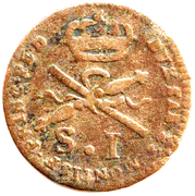 1 Soldo - Carlo Emanuele III – revers