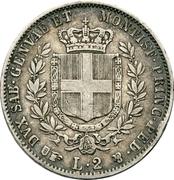 2 lire - Victor-Emmanuel II – revers