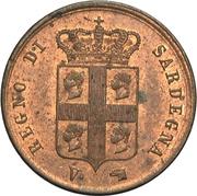1 centesimo - Charles-Albert – avers