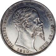 5 lire - Victor Emmanuel II – avers
