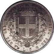 5 lire - Victor Emmanuel II – revers