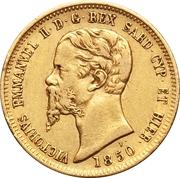 10 lire Victor Emmanuel II – avers