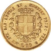 10 lire Victor Emmanuel II – revers