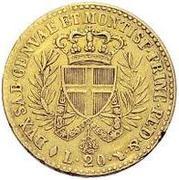 20 lire - Victor-Emmanuel I – revers