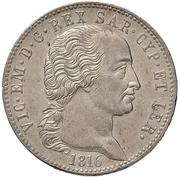 5 lire - Victor-Emmanuel I – avers