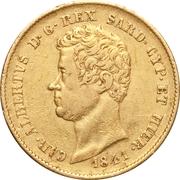 20 lire - Charles-Albert – avers