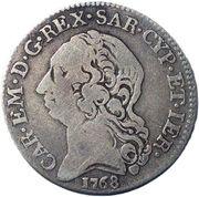 ¼ Scudo - Carlo Emanuele III – avers