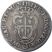¼ Scudo - Carlo Emanuele III – revers