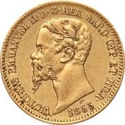20 lire - Victor-Emmanuel II – avers