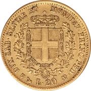 20 lire - Victor-Emmanuel II – revers