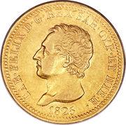 40 lire - Charles-Félix – avers