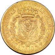 40 lire - Charles-Félix – revers