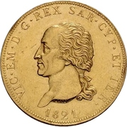 80 lire - Victor-Emmanuel I – avers