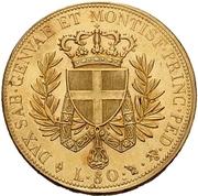 80 lire - Victor-Emmanuel I – revers