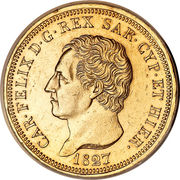 80 lire - Charles-Félix – avers