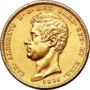 100 lire - Charles-Albert – avers