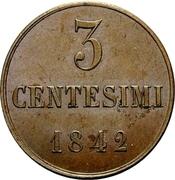 3 centesimi - Charles-Albert – revers