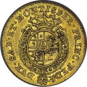 1/4 doppia Carlo Emanuele III – revers