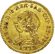 ½ Doppia - Carlo Emanuele III – avers