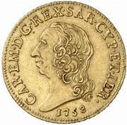 1 doppia Carlo Emanuele III – avers