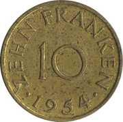 10 franken -  revers