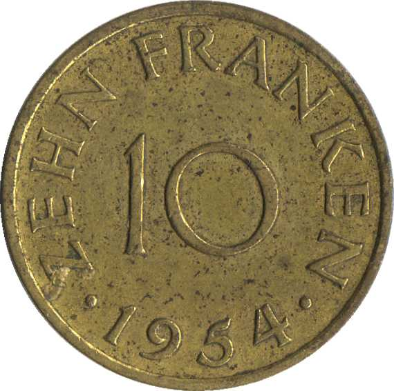 10 Franken Sarre Numista