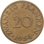20 franken -  revers