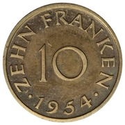 10 franken (Essai) – revers