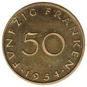 50 franken (Essai) – revers