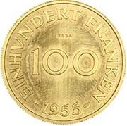 100 franken (Essai) – revers