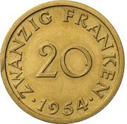 20 franken (Essai) – revers