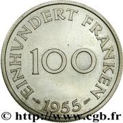 100 franken (Essai lignes courtes) – revers